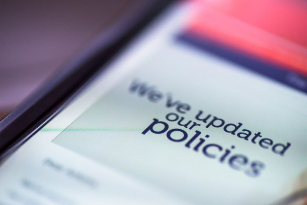 Be sure to notify your network users when you update your cybersecurity policies.