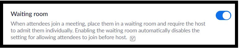Use the waiting room in Zoom